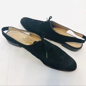 Ferragamo Suede Oxford Slingback Shoe